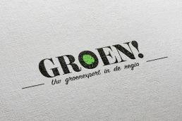 Logo groen! Beverwijk op canvas