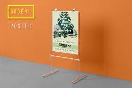 Poster voor zakelijke klanten om meer sfeer op kantoor te brengen met planten